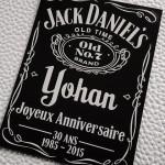étiquette personnalisée joyeux anniversaire whisky jack daniel's