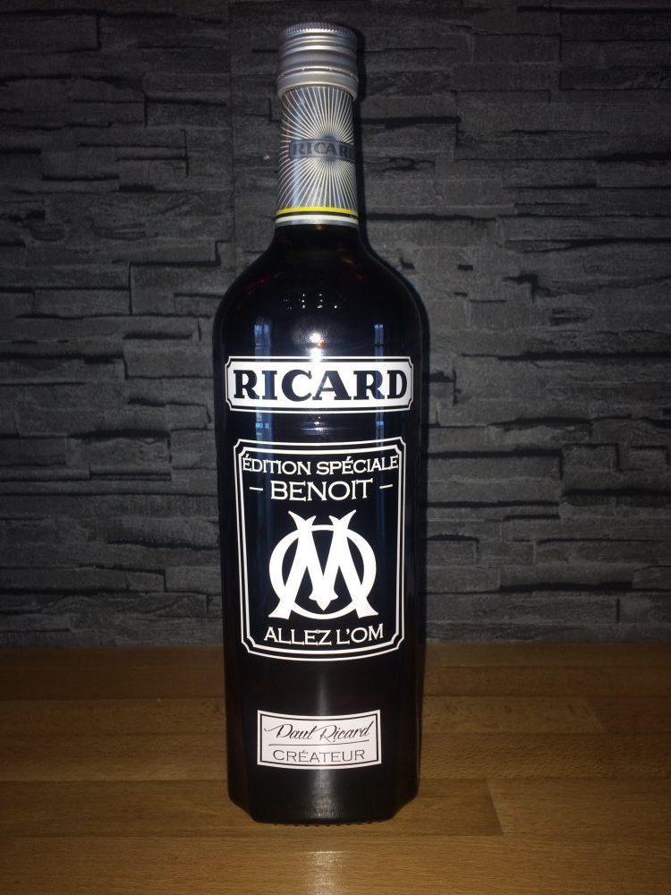 Etiquette bouteille ricard personnalisée cadeau OM