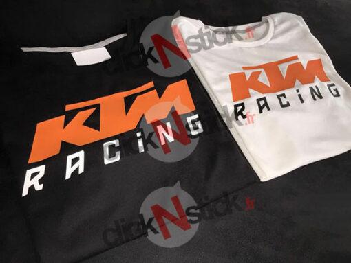 Flocage textile KTM Racing
