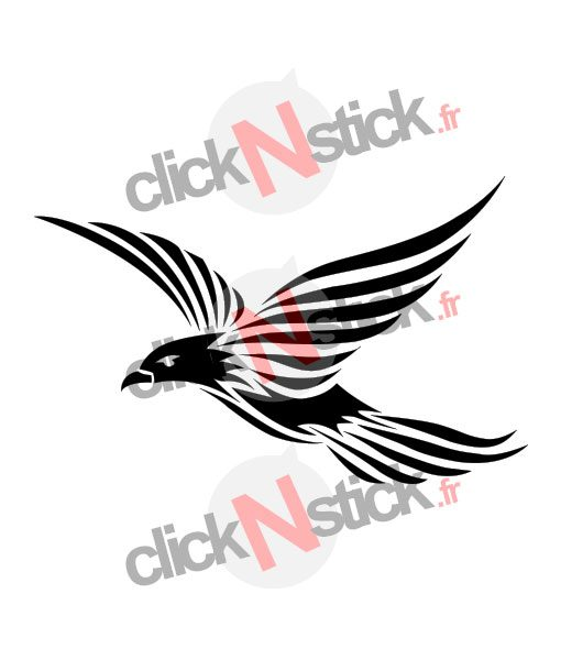 sticker oiseau tribal