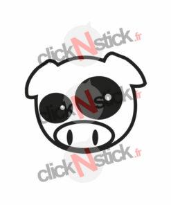 sticker jdm pig cochon subaru