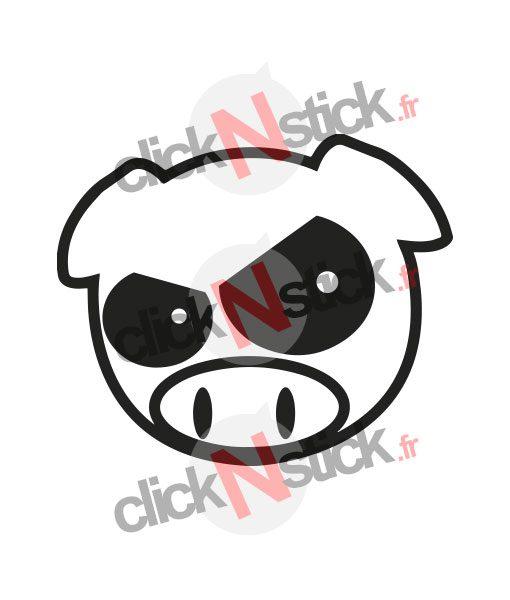 sticker pig jdm subaru en colère