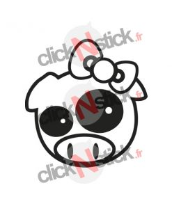 sticker pig cochon kitty jdm