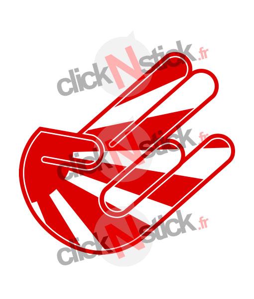 stickers shocker hand main jdm drapeau japon