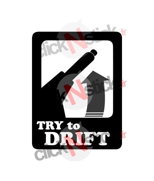 sticker try to drift