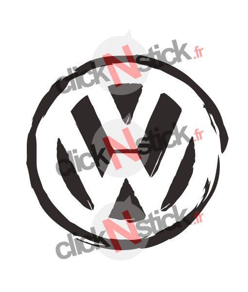 stickers logo vw destructuré