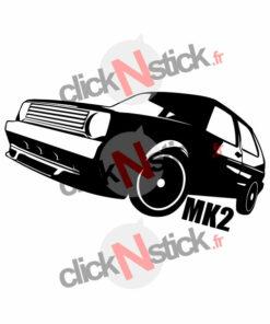 stickers volkswagen vw golf mk2