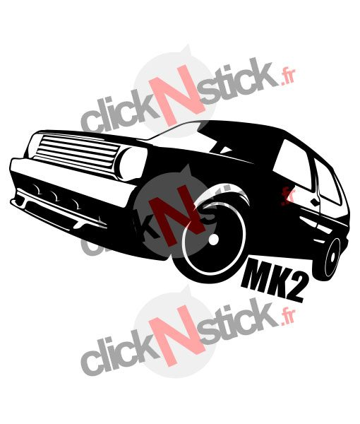 stickers volkswagen vw golf mk2