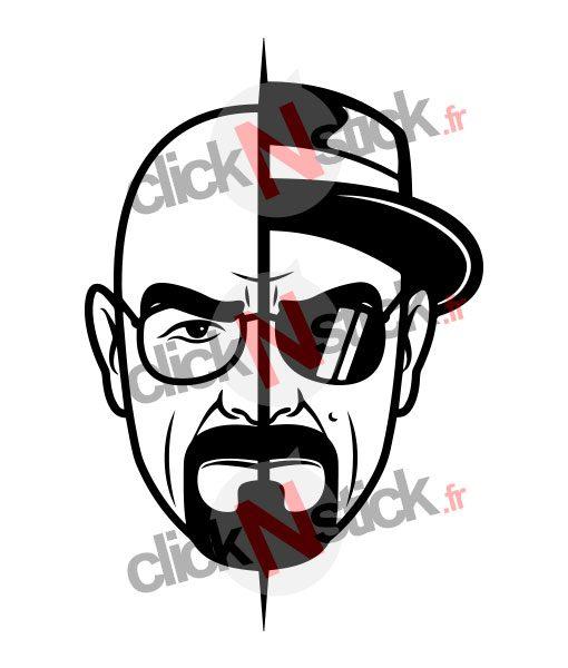 stickers walter white alias heisenberg de breaking bad
