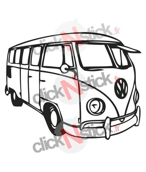 volkswagen vw combi van stickers