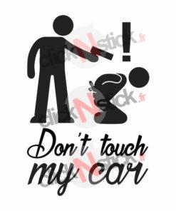 don't touch my car pistolet gun stickers