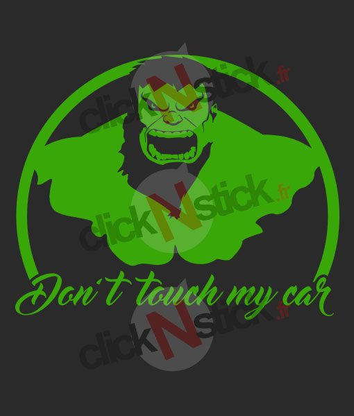 don't touch my car hulk stickers