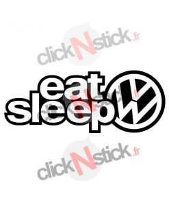eat sleep volkswagen stickers 2