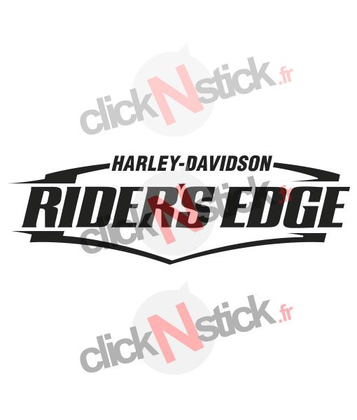 Harley Davidson riders edge stickers