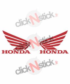 2 stickers honda moto droite et gauche