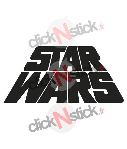Star Wars logo old school stickers