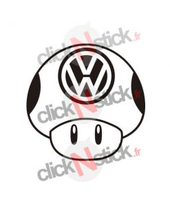1up champignon mushroom volkswagen vw toad stickers