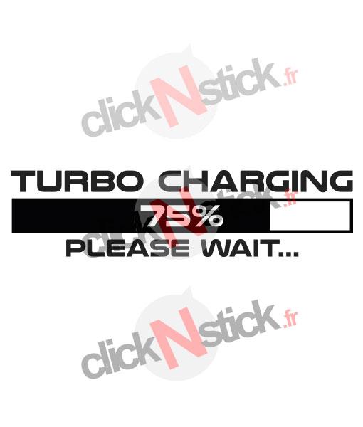 Turbo charging fun stickers