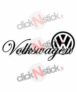 volkswagen écriture calligraphiée avec logo stickers