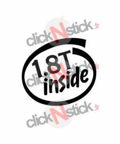 vw 1.8T inside intel inside look stickers