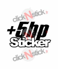 + 5 hp + 5 chevaux sticker