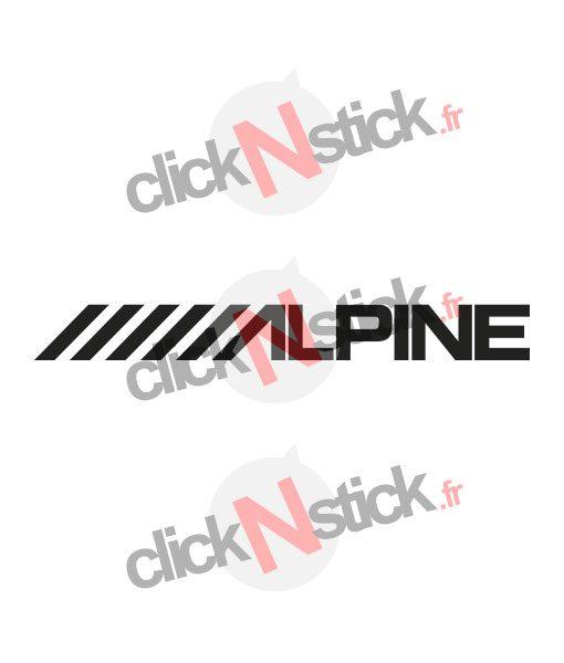 alpine car audio stickers