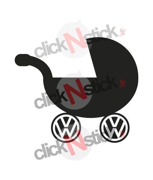 landeau volkswagen bébé à bord stickers