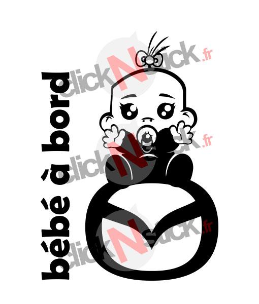 bébé à bord mazda fille stickers
