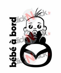 bébé à bord mazda garçon stickers