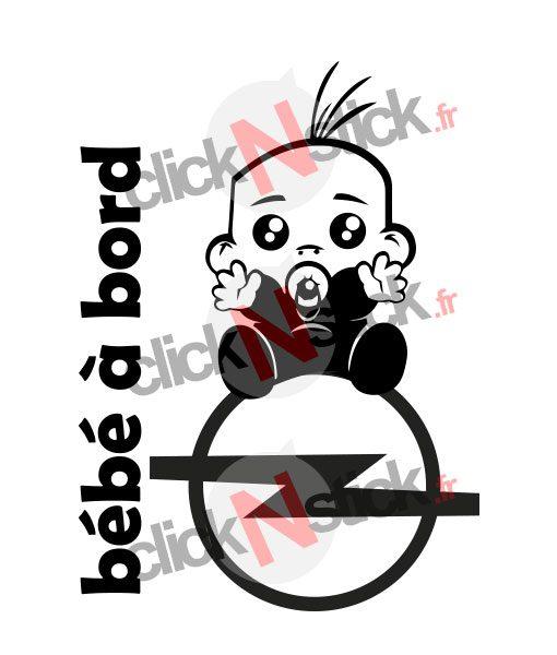 bébé à bord opel garçon stickers