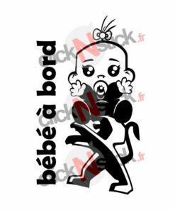 bébé à bord peugeot fille stickers