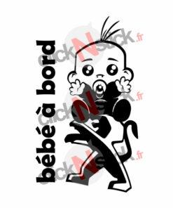 bébé à bord peugeot garçon stickers
