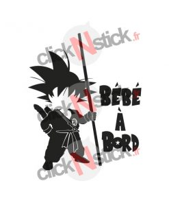 Bébé à bord sangoku dragon ball stickers