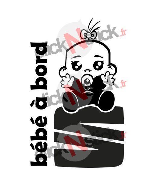bébé à bord seat fille stickers