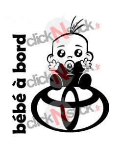 bébé à bord toyota garçon stickers