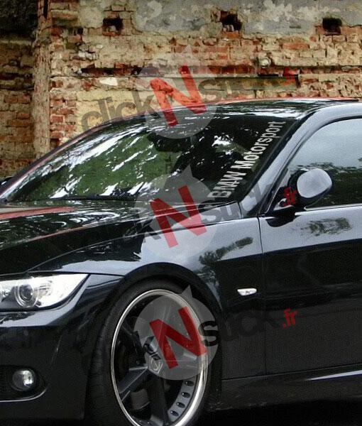 bande parebrise sticker BMW Motorsport