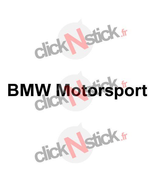 BMW Motorsport stickers