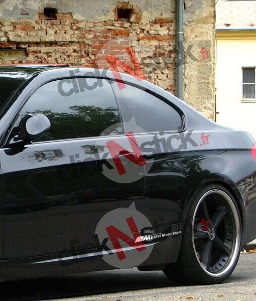 sticker bmw motorsport M bas de caisse