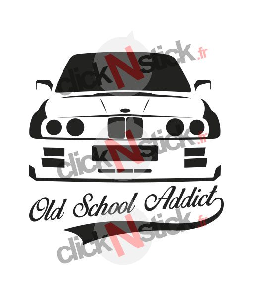 bmw old school e30 stickers