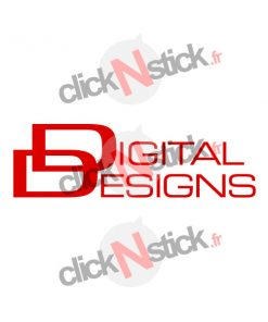 logo digital designs car audio stickers