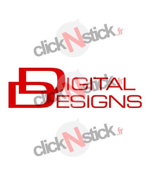 logo digital designs car audio stickers
