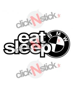 eat sleep bmw sticker