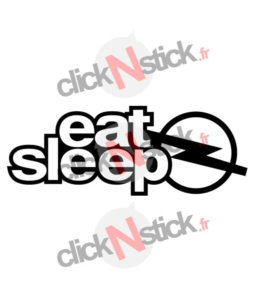 eat sleep opel sticker