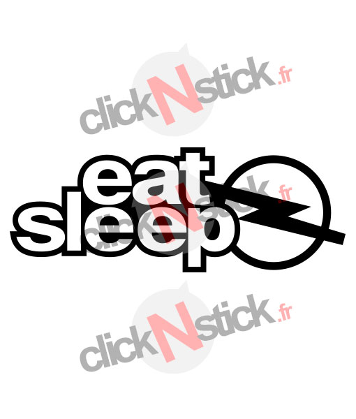 eat sleep opel sticker