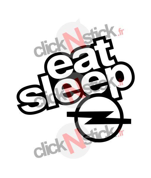 eat sleep opel stickers