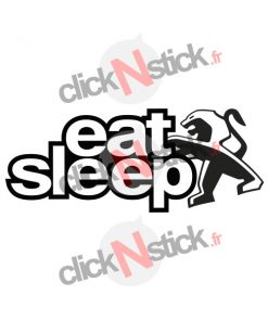 eat sleep peugeot sticker