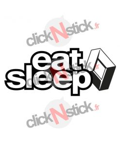eat sleep renault sticker