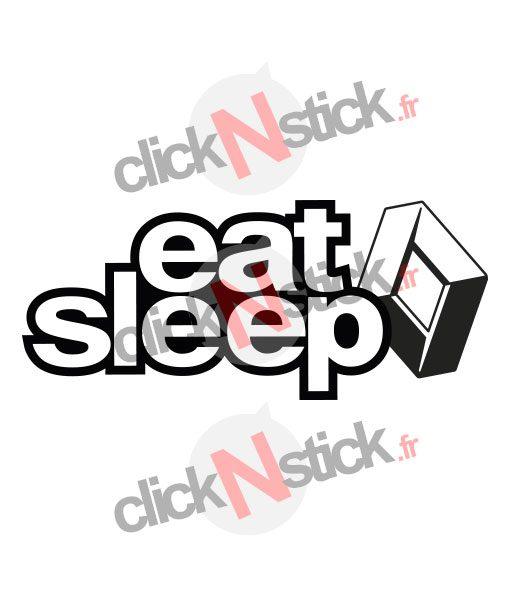 eat sleep renault sticker