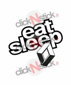 eat sleep renault stickers