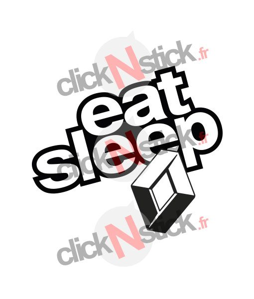 eat sleep renault stickers